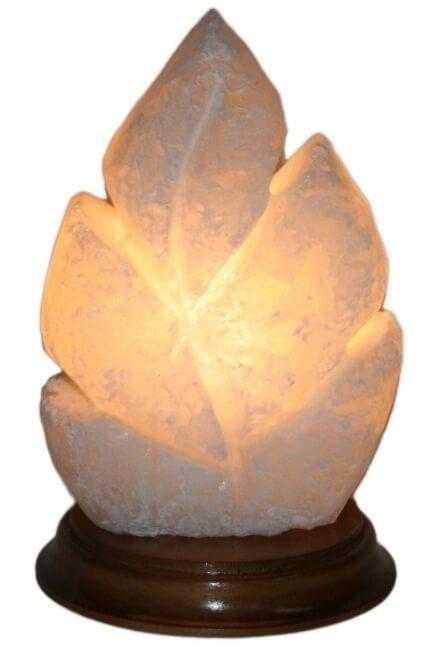 Солевая лампа Лист (белая соль)