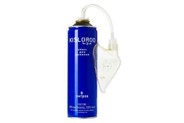 Баллончик кислородный KISLOROD K12L-M с маской