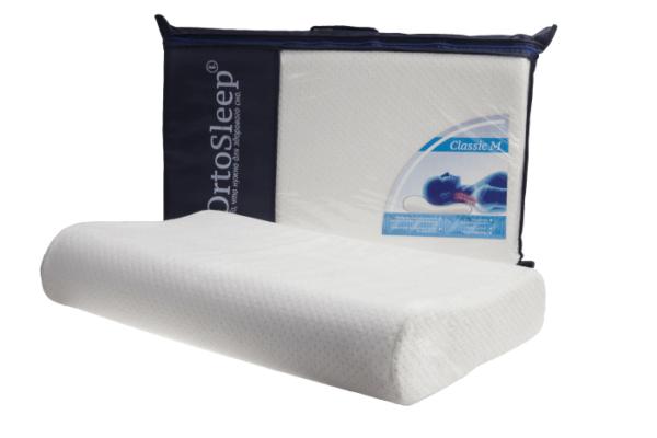 Подушка с памятью формы OrtoSleep Classic S, 49*29, валики 7 и 9 см