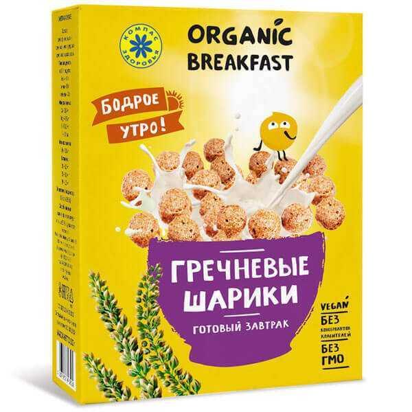 Завтраки сухие Гречневые шарики 100 гр